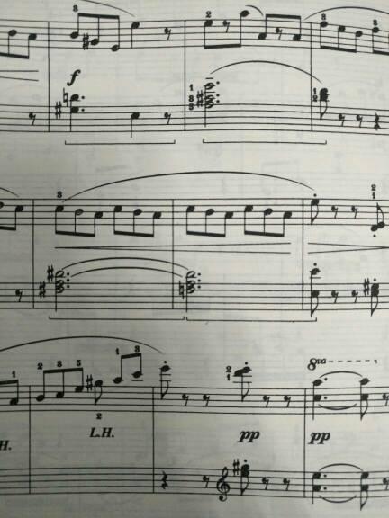 钢琴五线谱符号