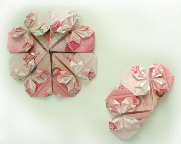 用钱心的折纸步骤图解