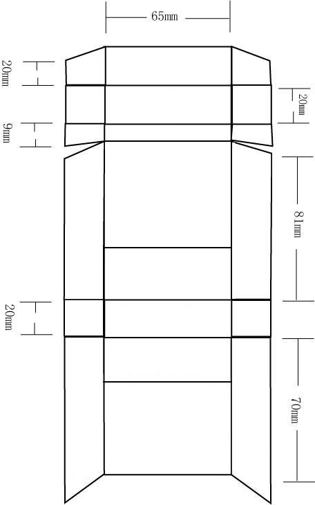 烟盒平面图