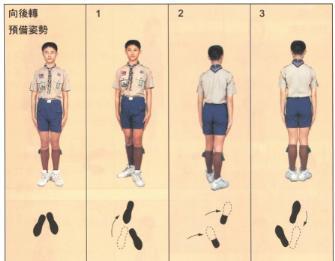 台湾军训向后转怎么转