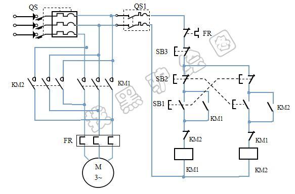 电机正反转控制加电气联锁控制电路图及工作原理