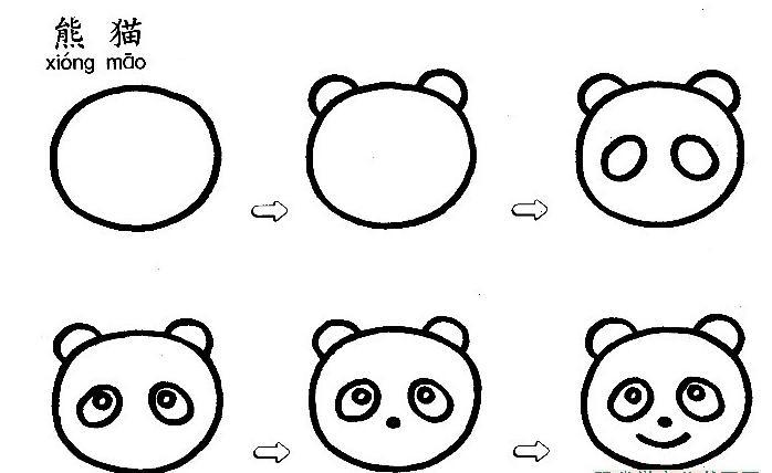大熊猫怎么画
