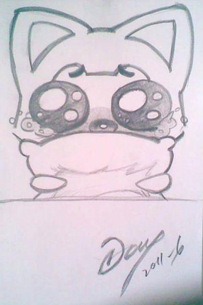 动画卡动物通铅笔画图片 简单一点的