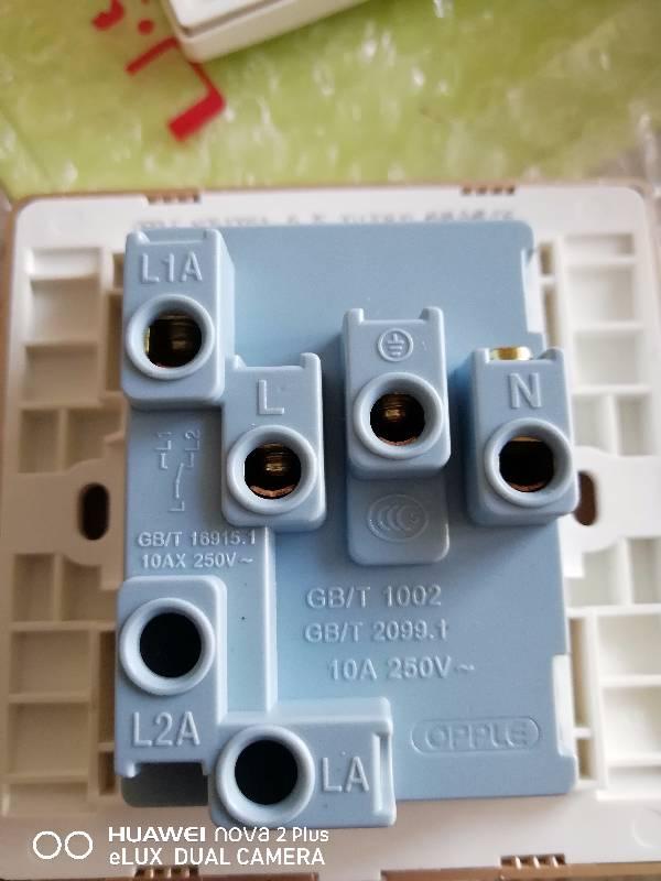 一开单控五孔插座怎么接线墙里是三根线插座后面是四个插线眼开关控制