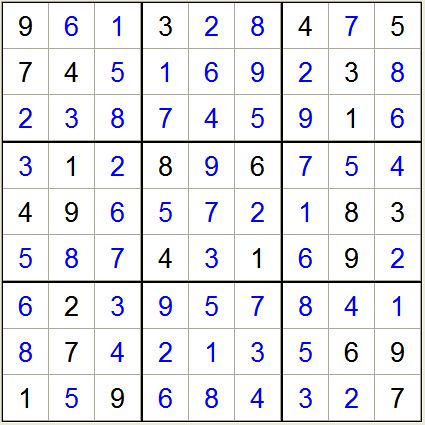一年级九宫格从一到九,每格必须有1-9图片