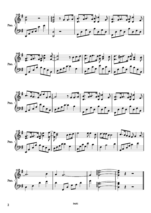 钢琴简谱宠爱双手的 是简谱