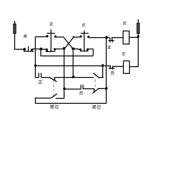 急求一份电动机正反转自动切换电路图