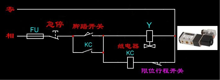 中间继电器如何接法,带电路图