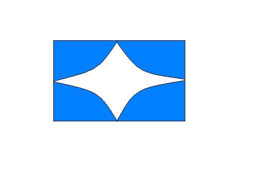 白底蓝色椭圆_蓝色为底的长方形,加个什么形状的白色图形好看.一定要简洁,大方.