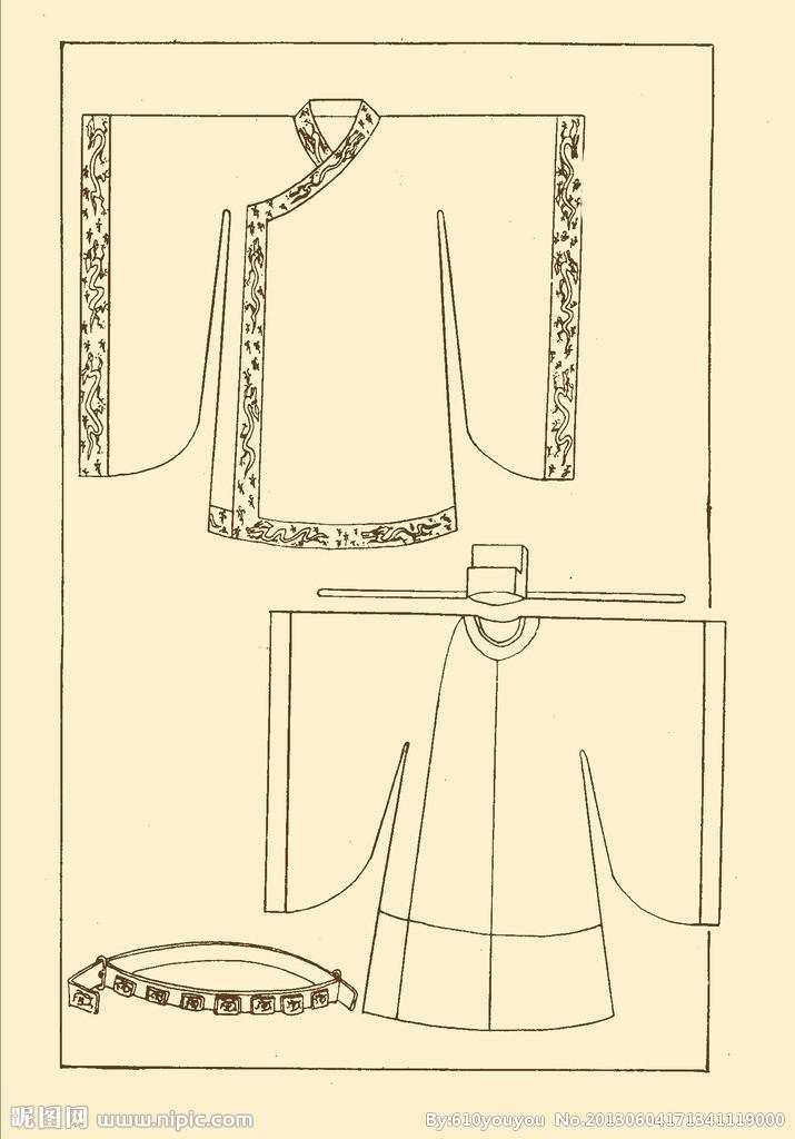 古代服装设计图(不含人)