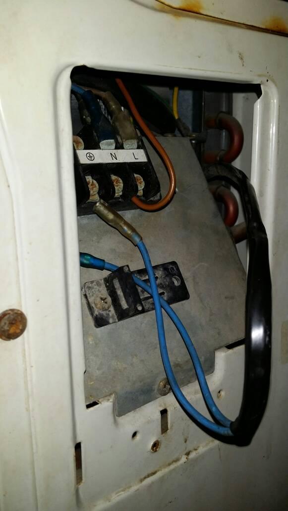 这空调电源线怎么接?图片