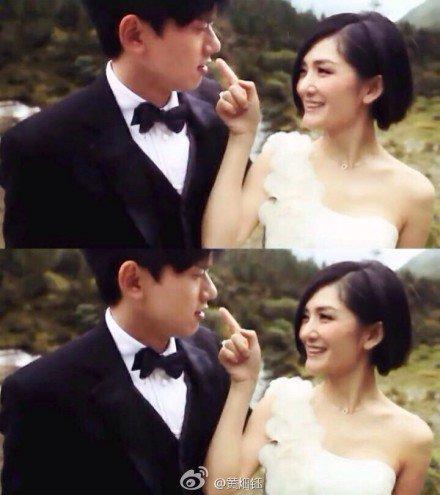 张杰和谢娜结婚时的照片