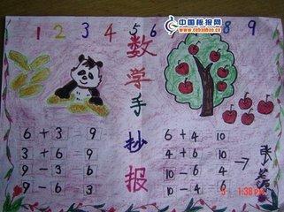 一年级孩子简单手抄报数学图片图片