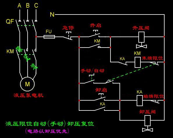 两个行程开关一个接触器控制双向液压电磁阀接线图_图片