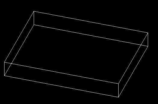 天正cad长方形用线面加厚变成三维立体图后,怎么在从三维转化成平面图片