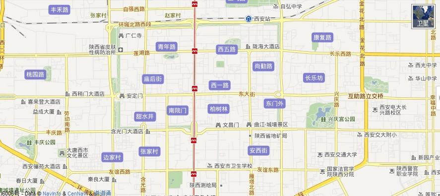 西安地图,西安市电子地图