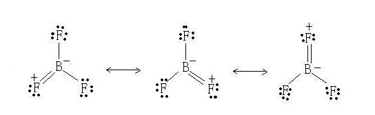 bf3路易斯共振结构式有三种? 哪三种图片