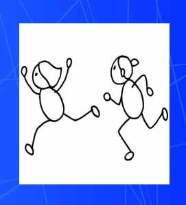 简单ps设计,两小人手牵手在路上跑,一男一女,看起来像