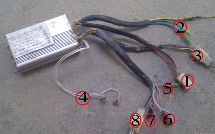 电动车电机上几根细线是什么线,起什么作用?