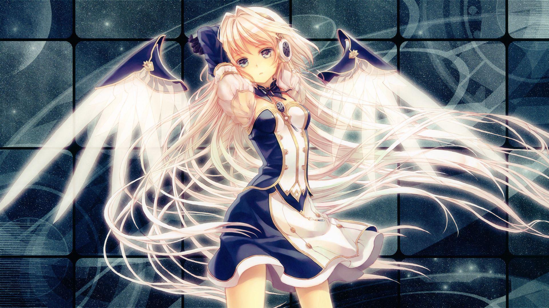 是女生,有翅膀的动漫图片