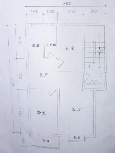 95平米的房子(建筑平面图如图),该怎么装修?求高人指点.