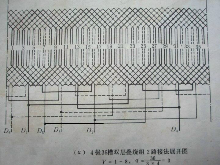 4极2路10千电机接线图