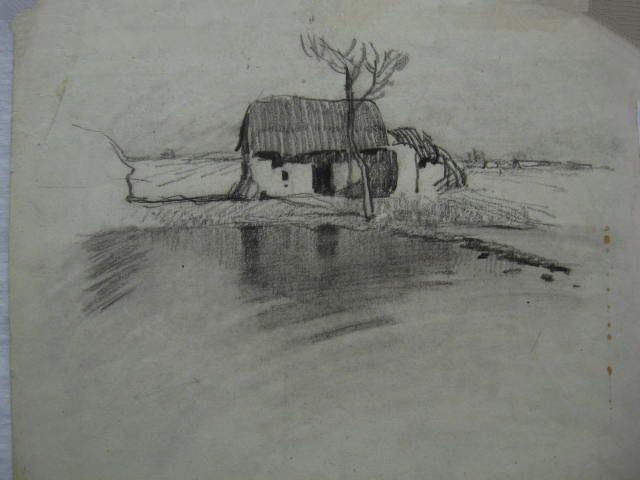 求比较简单的风景铅笔画!