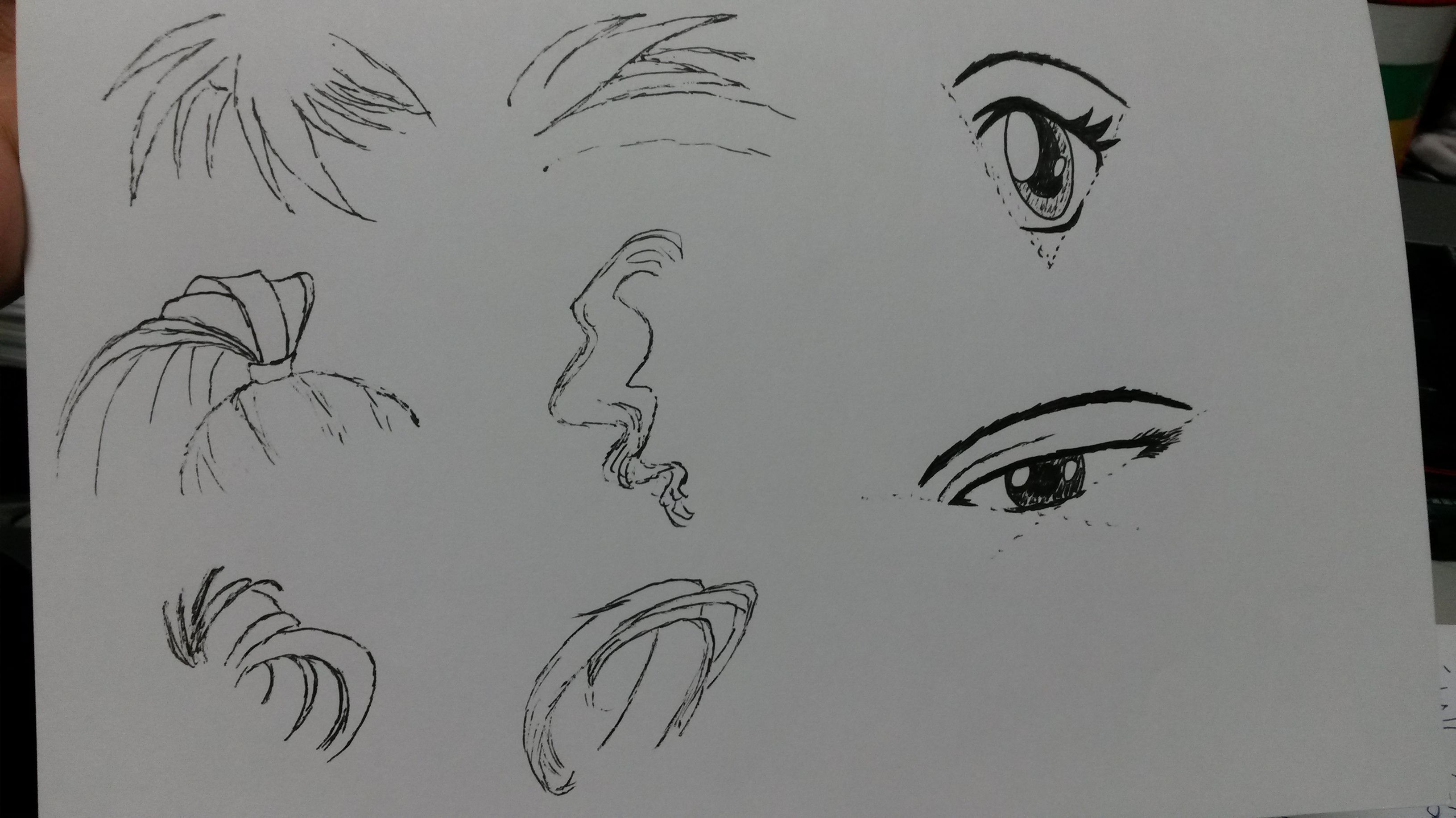 素描漫画少女头发的方法