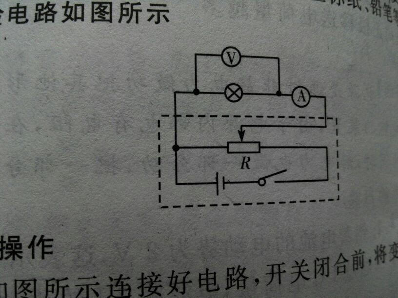 帮忙看一下这个电路图,滑动变阻器滑片向哪边移电阻会