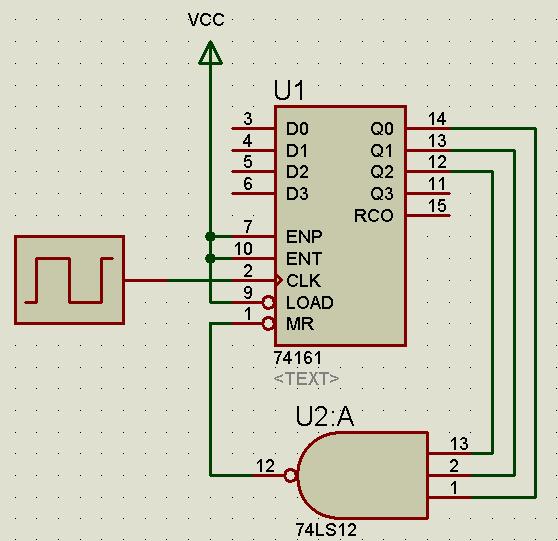 关于74161异步计数器的问题,请工科解答一下这个数字电路的题目,高