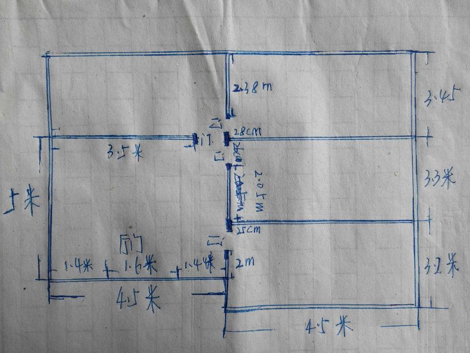 这样的房子能住吗?坐南朝北平面设计图.