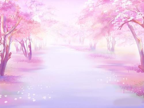 求带有樱花树,古风的动漫图,不要人物,不要只有樱花树