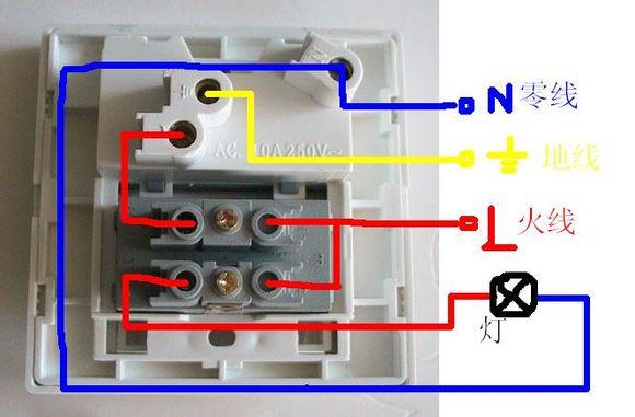 镜前灯的开关和三孔插座在一起怎么接?有一个n,两个l