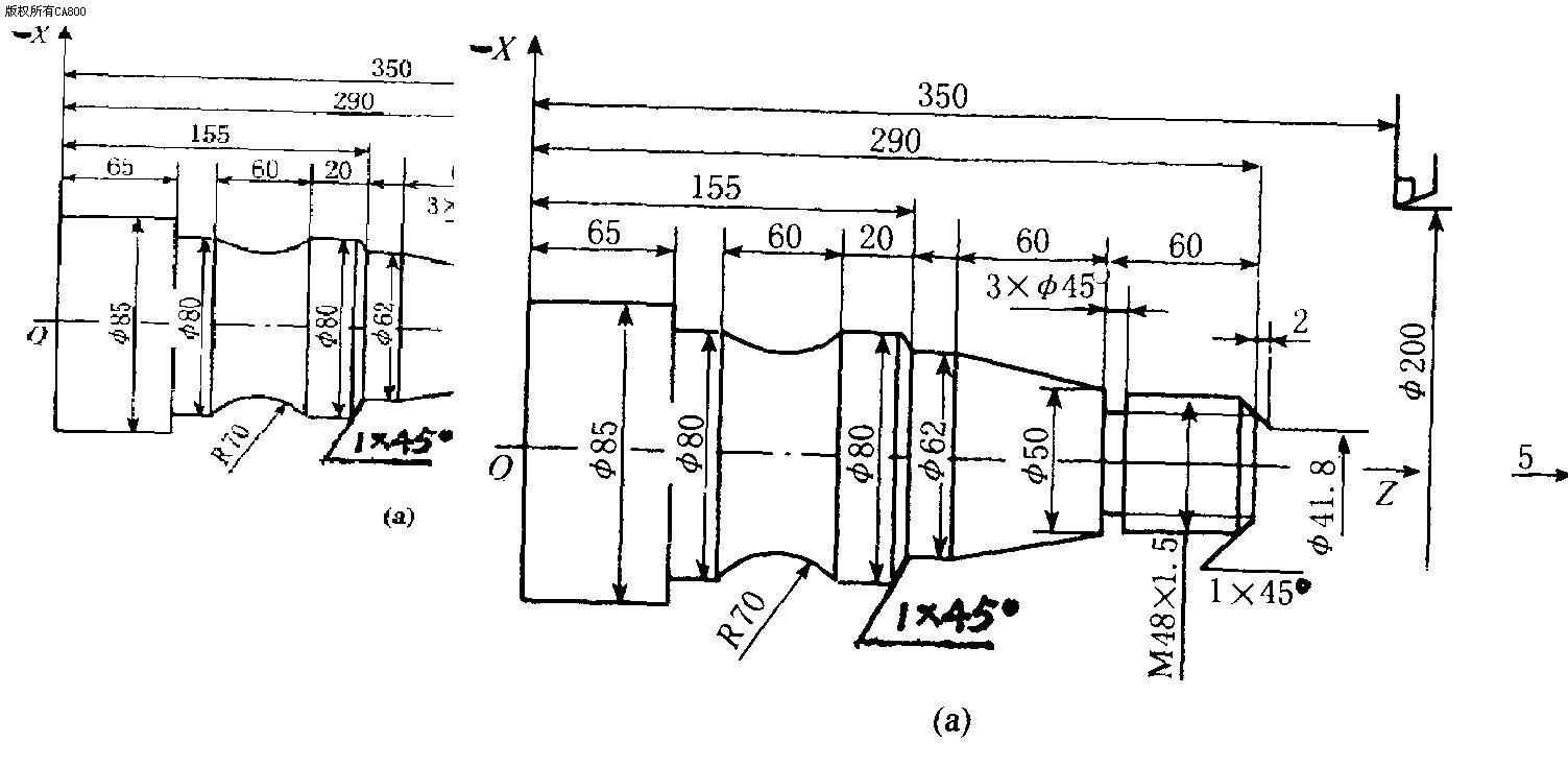 求数控铣床工艺品加工图纸三视图都有的那种