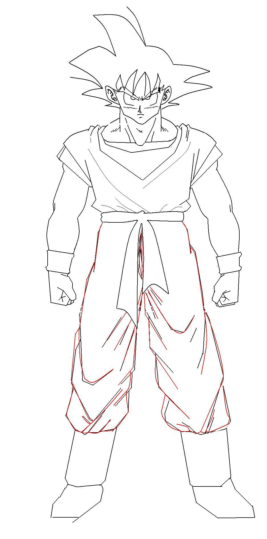 龙珠人物手绘线条图,不要太复杂太难画.这种图
