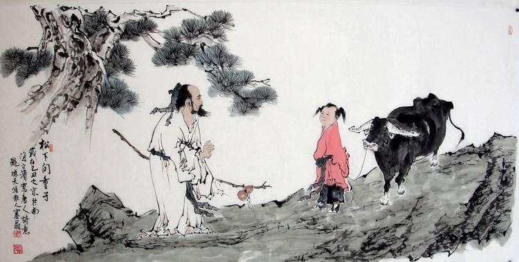 背景:此诗是中唐时期诗僧贾岛到山中寻访一位隐者未能遇到有感而作的