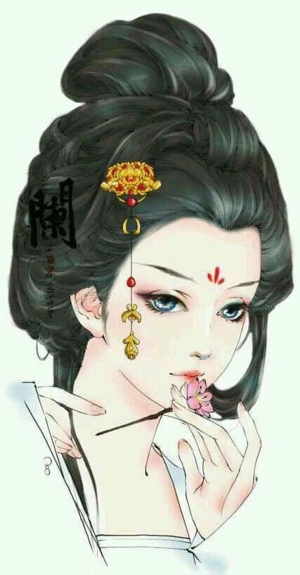 谁有优质的手绘古装女子