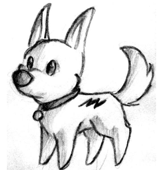 怎么画狗狗简笔画图片最简单