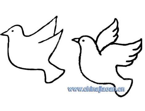 鸽子的简笔画怎么画?
