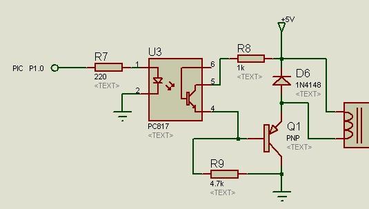 pc817光电隔离,三极管继电器这个驱动电路不能正常工作,如何改进啊?