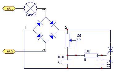 晶闸管调光电路原理图片