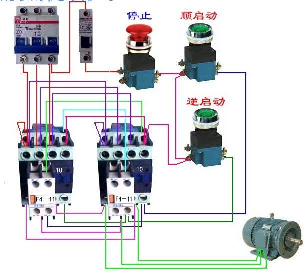 cjt1-20交流接触器反正点动接线图