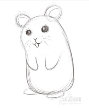 仓鼠怎么画