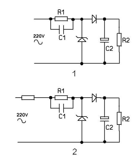 阻容降压半波整流电路中,稳压二极管应接在整流电路后面还是前面?