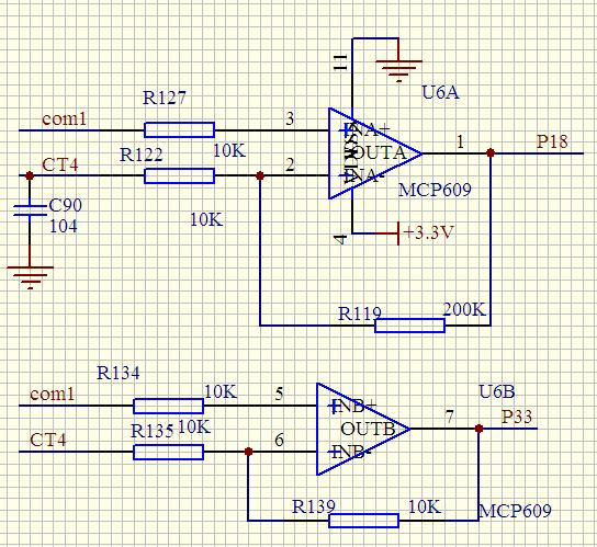 请各位大侠帮看下这个运放放大电路,是用来电流采样信号的电路,请分析