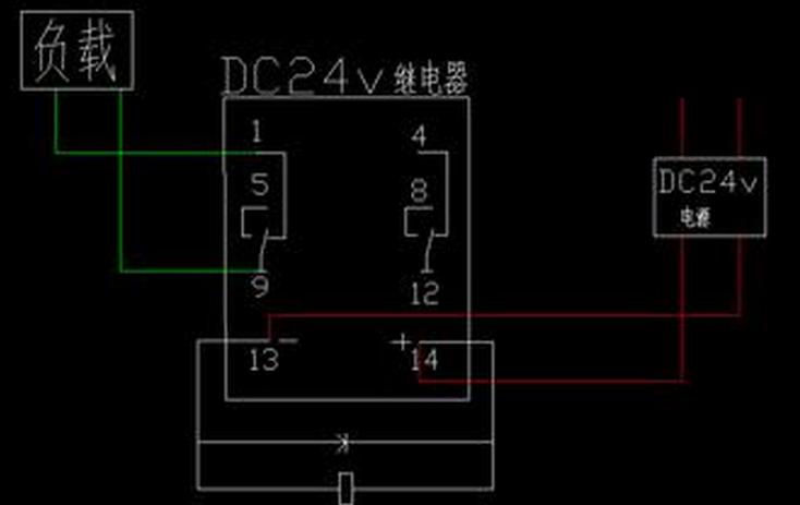 展开全部   以典型的24v继电器为例,6脚继电器接线如下:    5 2 已