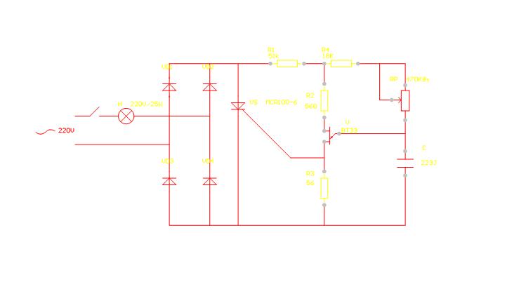 晶闸管调光电路的工作原理图片