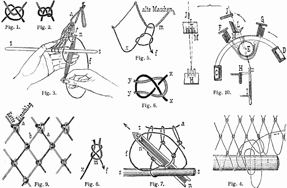 怎样编渔网结图解
