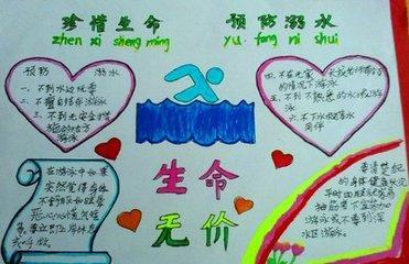 珍爱生命预防溺水手抄报不少250字怎么画和写