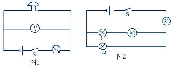 九年级物理电路图怎么画